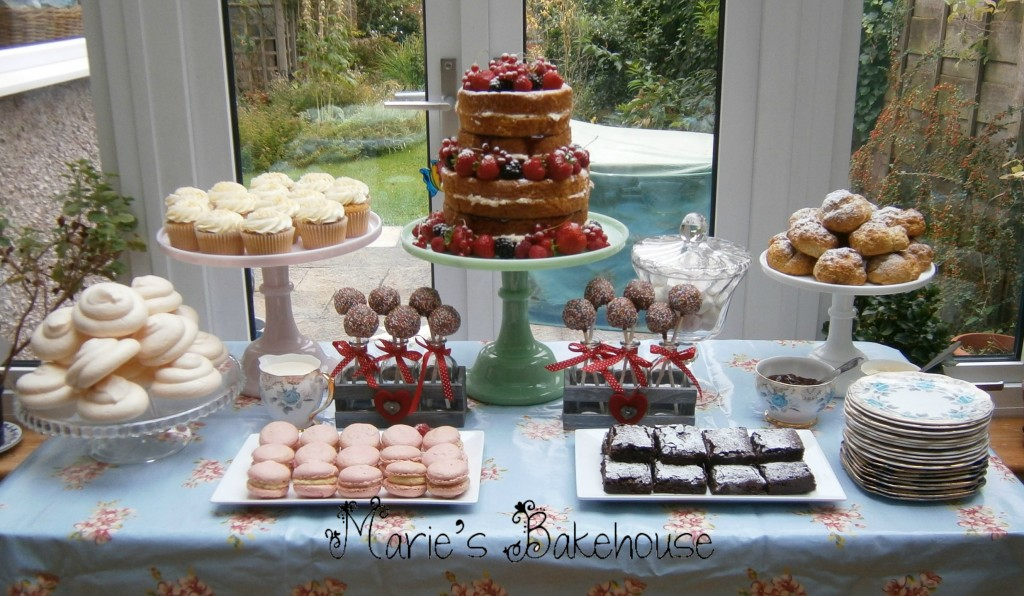 Afternoon tea dessert table