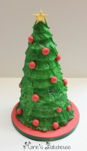Wafer Paper Christmas Tree Cake