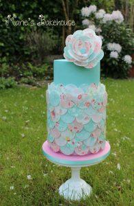 wafer paper petal cake