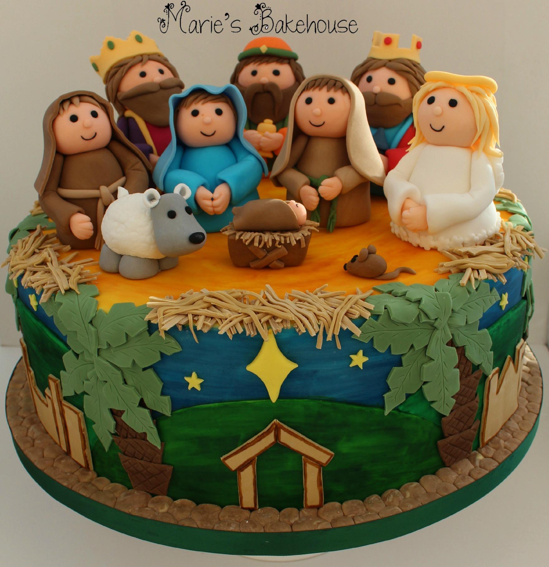 Nativity Christmas Cake Design : Awards and Shows - Maries Bakehouse