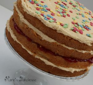 vanilla layer cake Marie's Bakehouse
