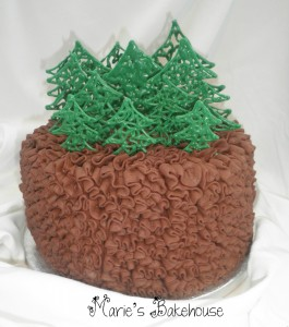 Chocolate Mud and Irish Cream Christmas Cake