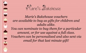 voucher for Marie's Bakehouse