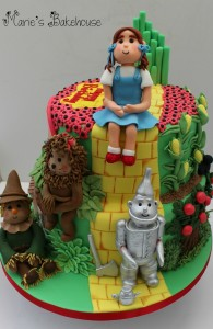 front view of cake