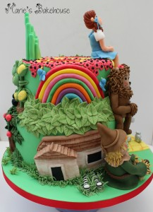side view cake house
