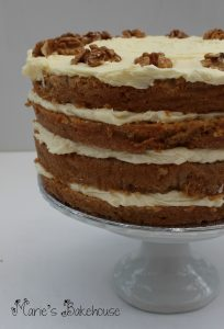 coffee and walnut cake Marie's Bakehouse