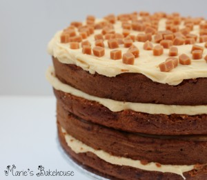 toffee and salted caramel layer cake Marie's Bakehouse