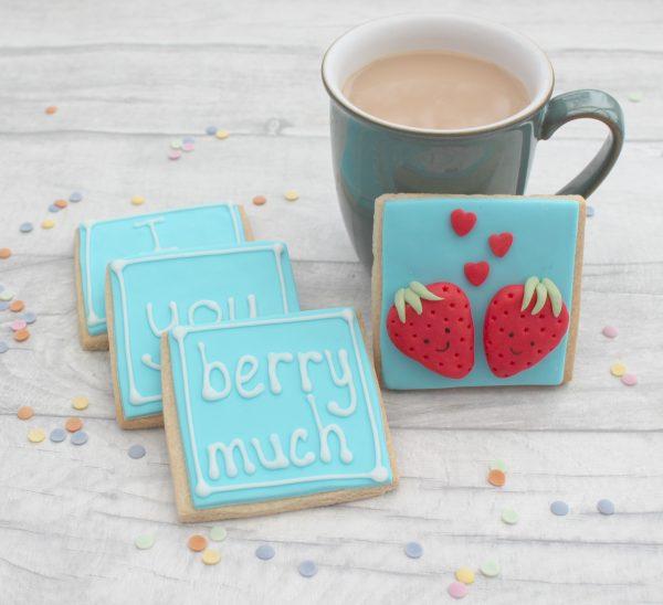 Valentine cookie present