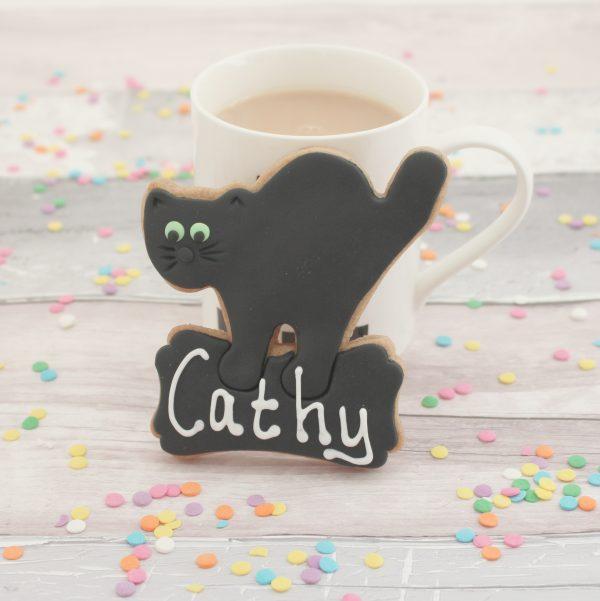 personalised cat cookies