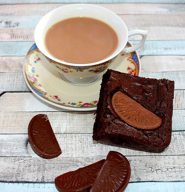 chocolate orange brownies postal treat