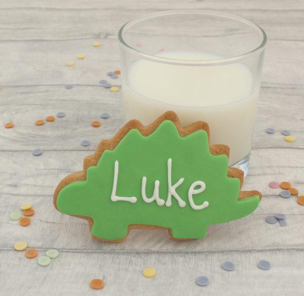 personalised dinosaur cookies
