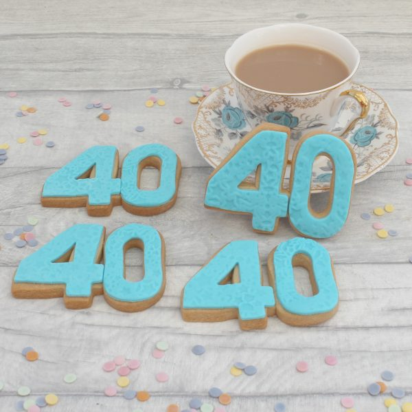 milestone number anniversary cookie favours