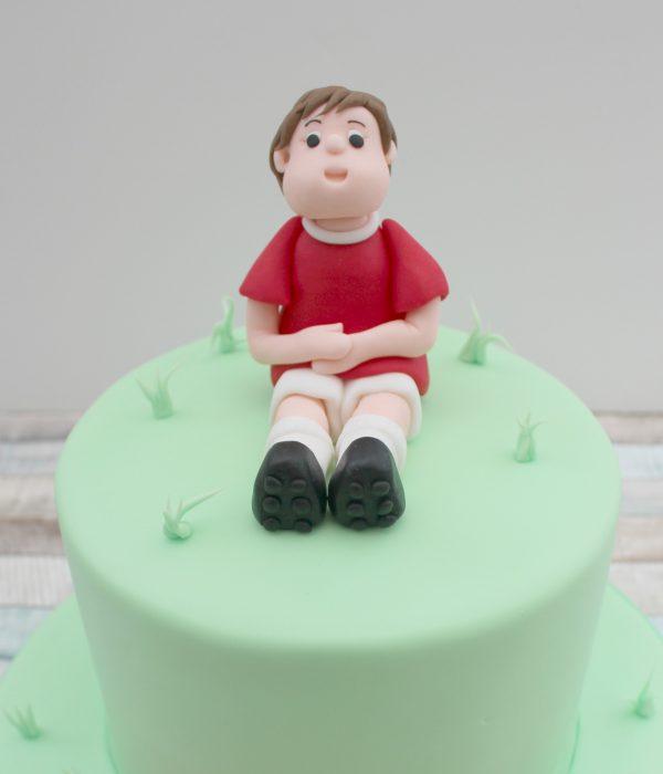 handmade footballer cake topper