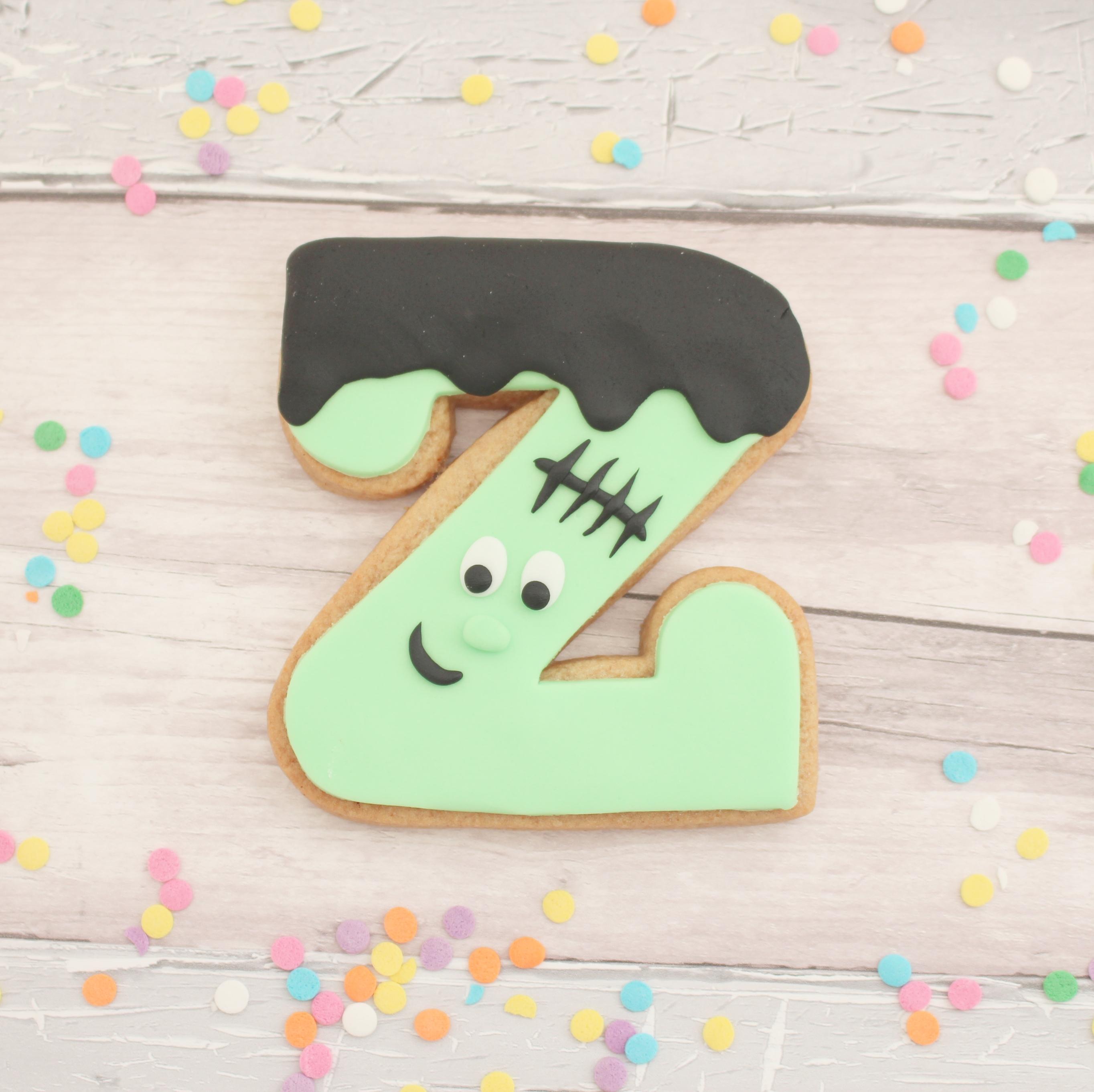 personalised monster halloween cookies