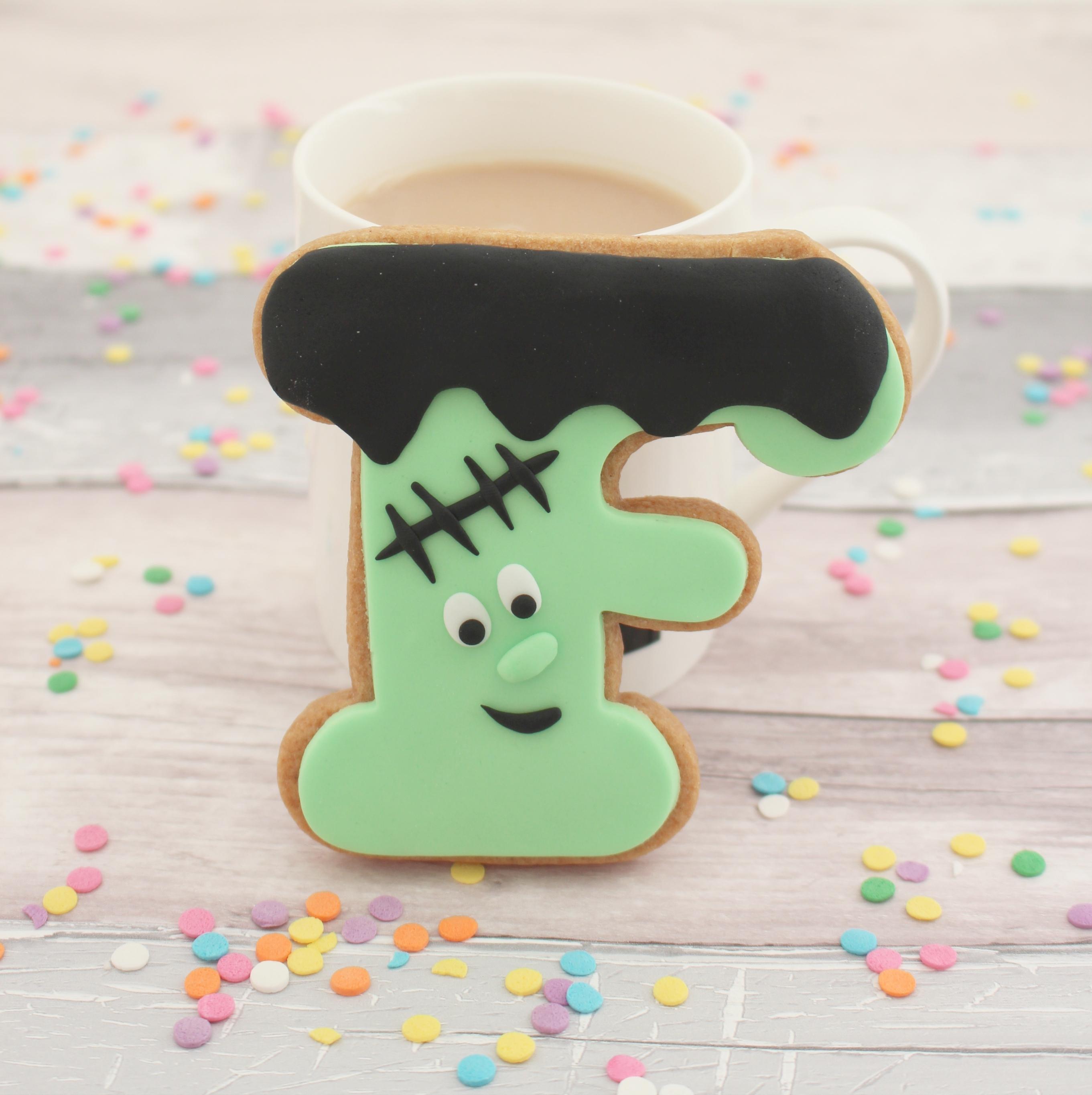 Frankenstein themed cookie