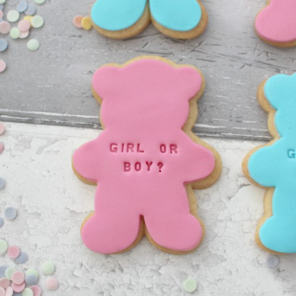 baby shower party favour biscuits
