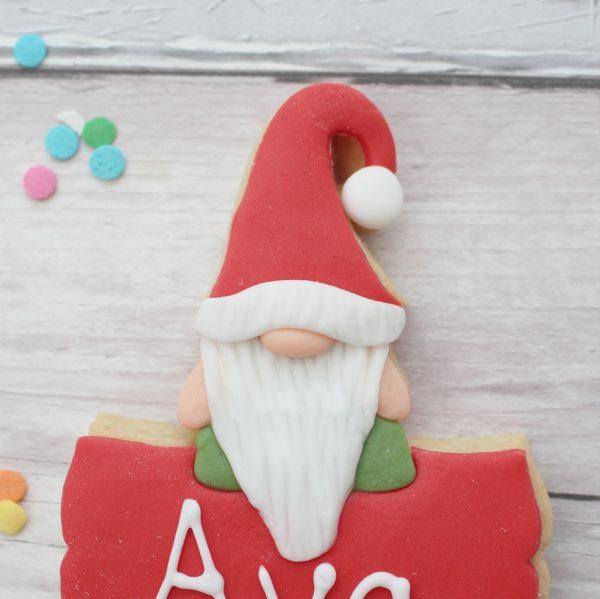 Christmas place name cookies