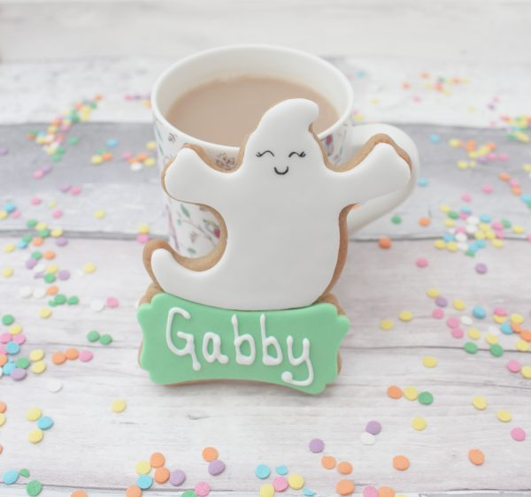 personalised cute ghost cookie