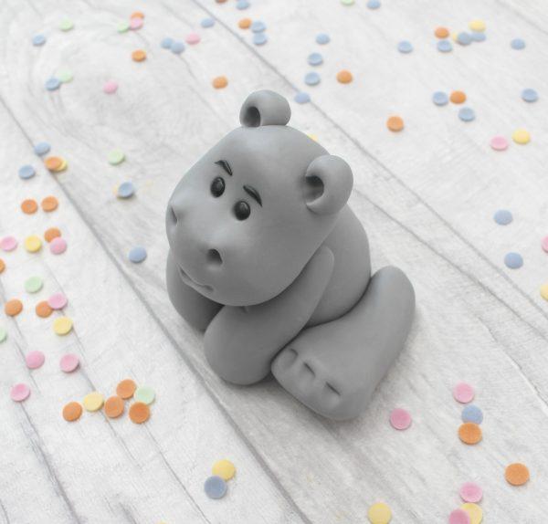 edible hippo cake topper