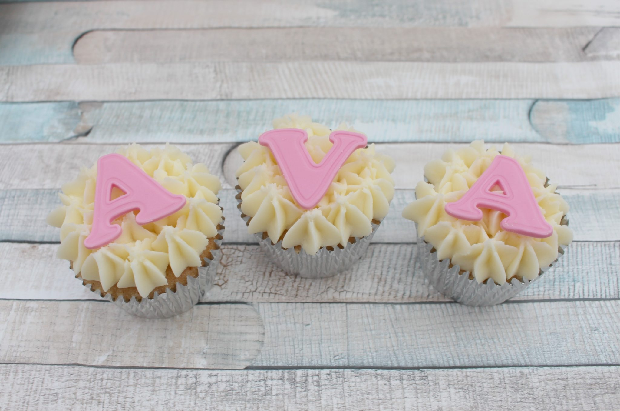 edible multi sugarpaste letters name cupcake topper any name up to 10 letters
