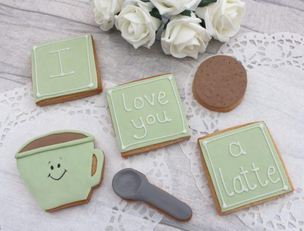 anniversary latte cookie set