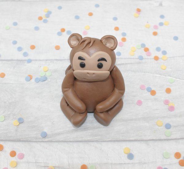 edible monkey jungle cake decoration
