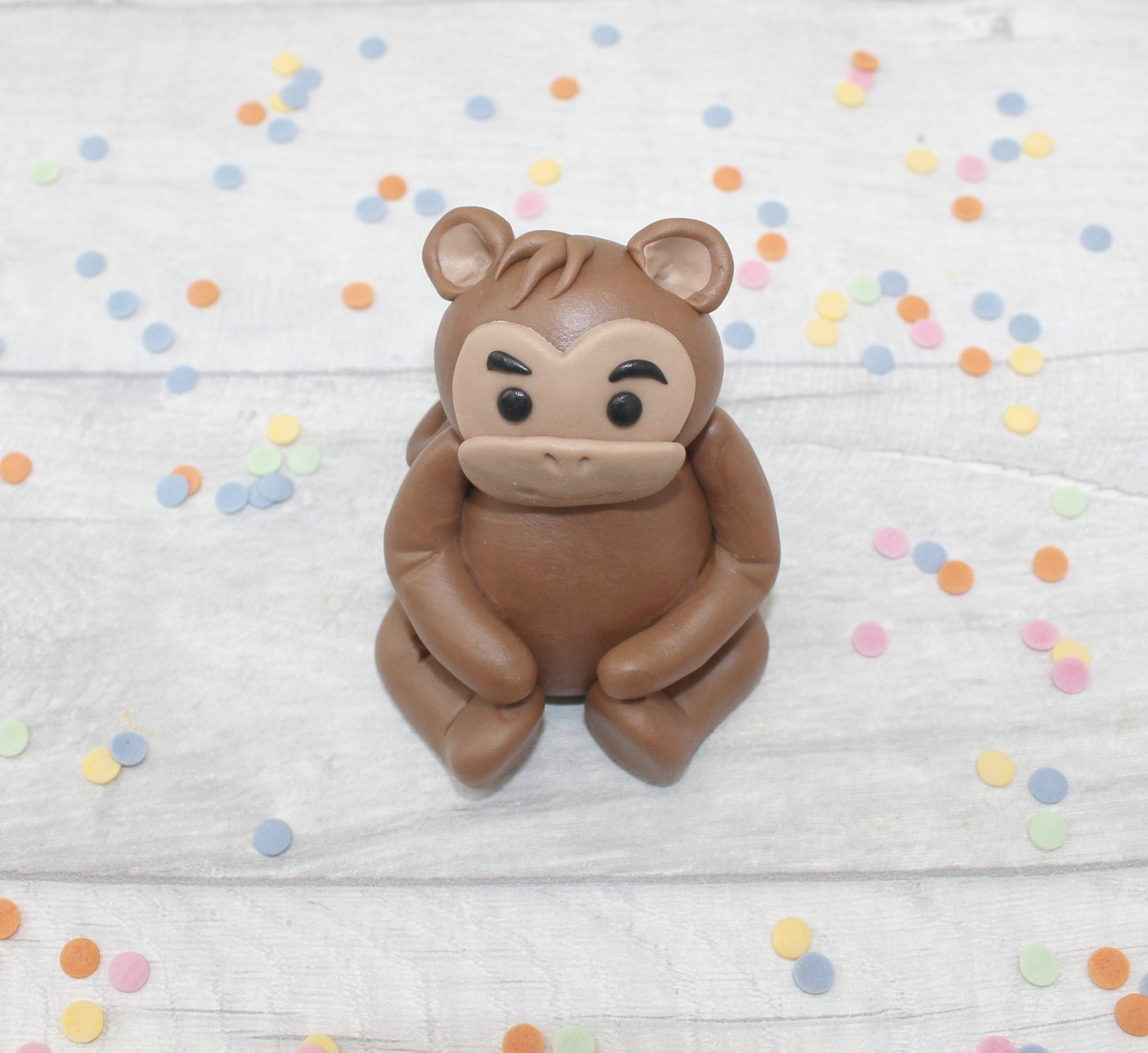 Monkey cake topper, baby shower edible decoration – Marie ...