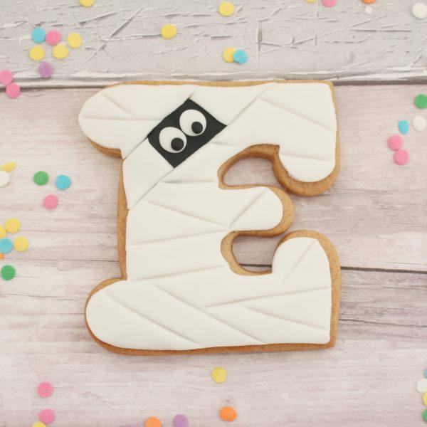 Halloween letter mummy biscuits