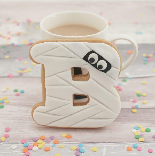 Personalised halloween mummy cookies