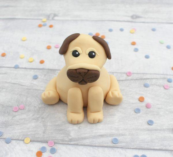 fondant sugarpaste dog cake decoration