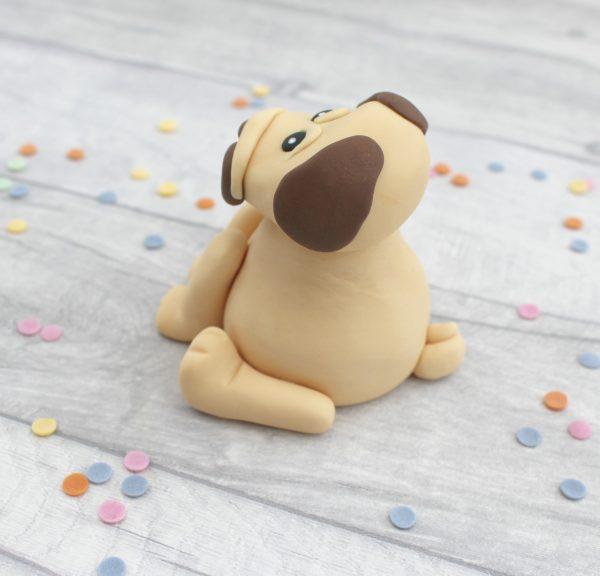 edible pug cake topper