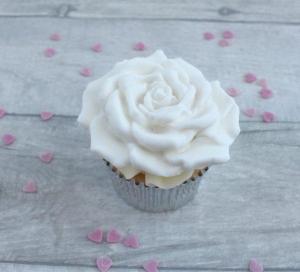 handmade rose cupcake toppers
