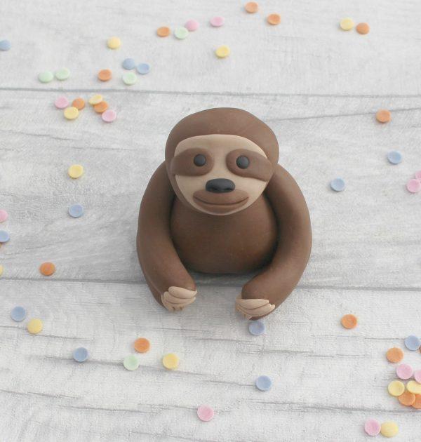 handmade sugarpaste sloth teenage birthday