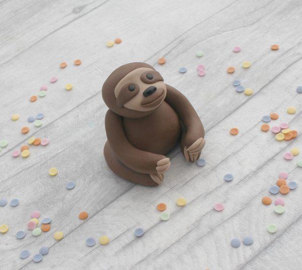 edible sloth cake decoration