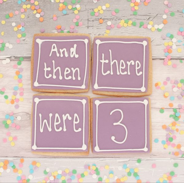 pregnancy announcement cookies