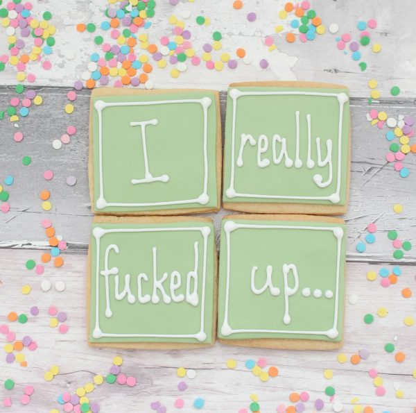 apology cookie gift