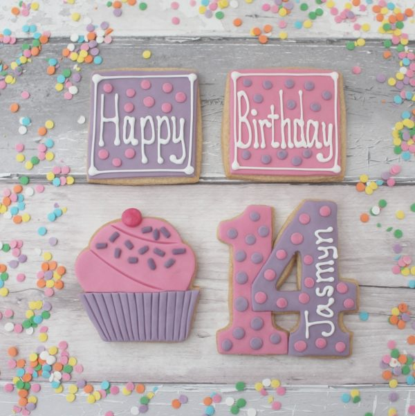 personalised birthday biscuit gift
