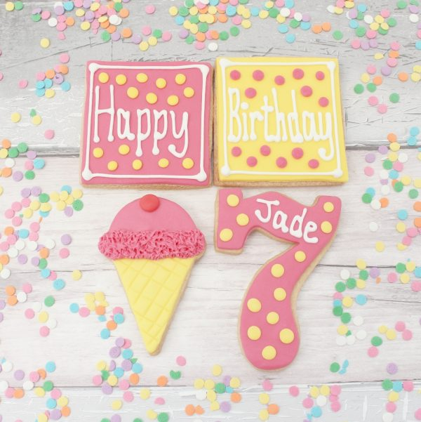 personalised birthday ice cream biscuit gift