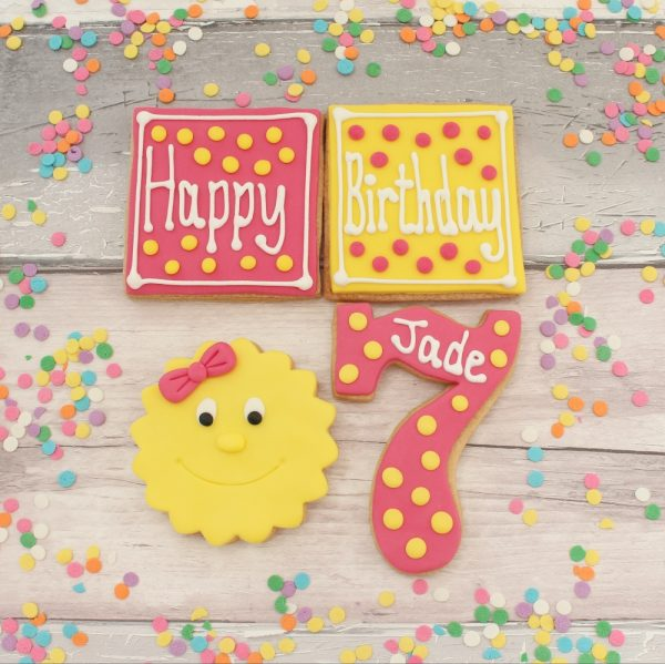personalised decorated birthday biscuits