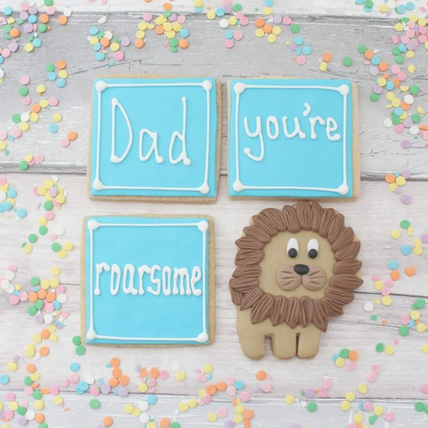 Father's day birthday cookies