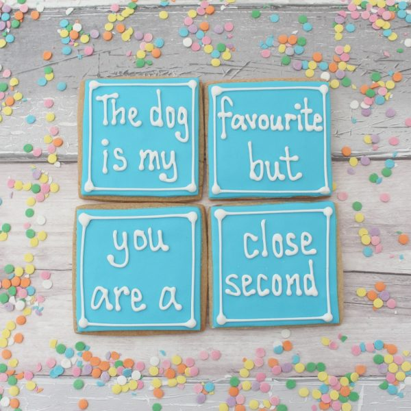 funny anniversary cookie gift