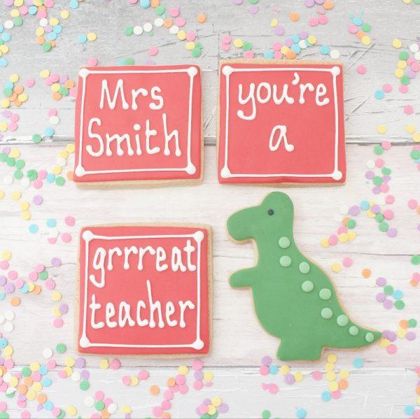 great teacher personalised cookie set