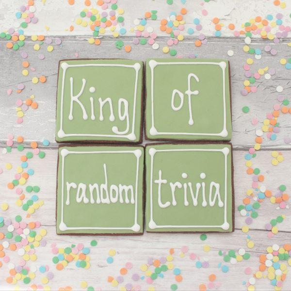 random trivia father's day cookie set