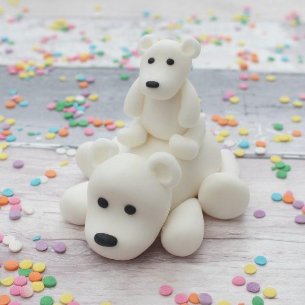 polar bear cake topper