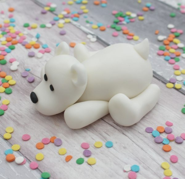 christmas polar bear cake topper