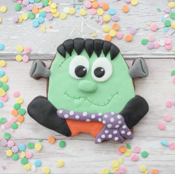 frankenstein monster halloween cookie